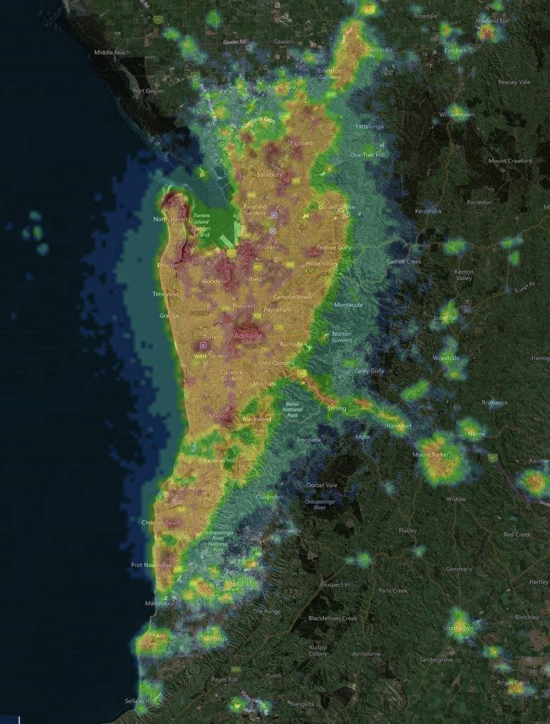 The Effects Of Light Pollution in South Australia