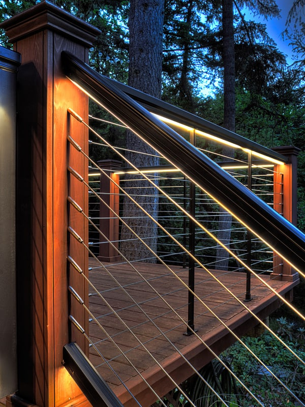 LED Lights used underneath outdoor stair railing