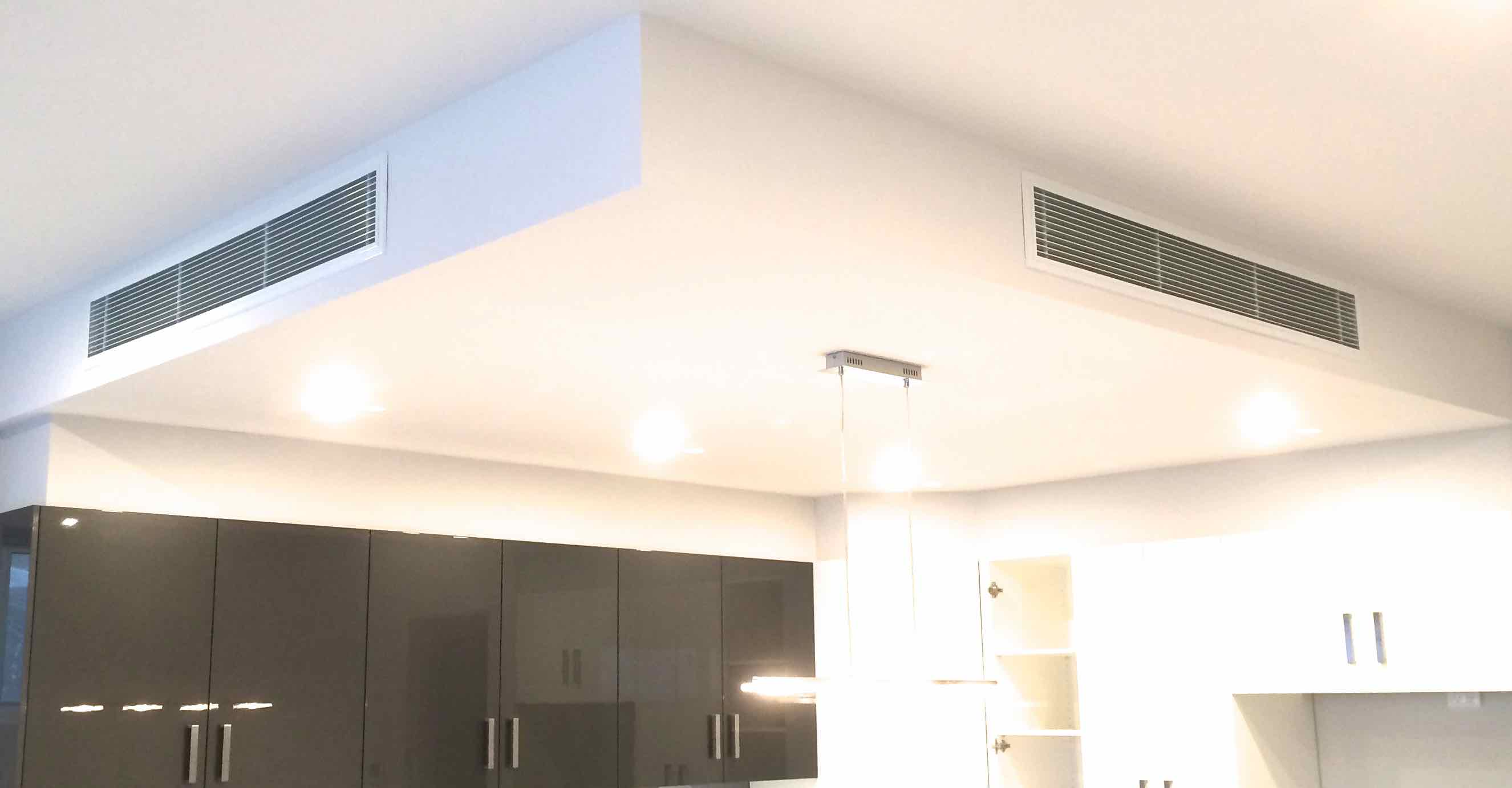 RETURN AIR GRILLES ABOVE A KITCHEN